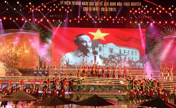 Tổ chức lễ kỷ niệm 70 năm Bác Hồ và Trung Ương về ATK Định Hóa chỉ đạo kháng chiến chống Pháp thành công
